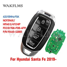 Для Hyundai Santa Fe 2019 2020 смарт ключ 433,92 МГц FSK NCF29A1X / HITAG 3 / 47 чип TQ8 FOB 4F19 95440 S2000