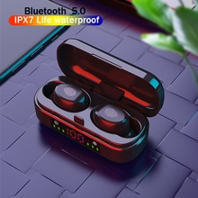 Wireless Headphone V8 TWS Bluetooth 5.0 Earphones 9D Bass Stereo Waterproof Earbuds Bluetooth Headse