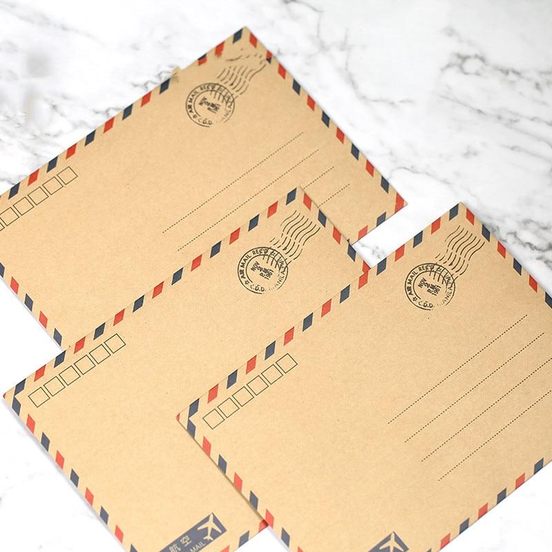 Coloffice 10 unids/lote carta postal grande papelería papel Kraft sobre Vintage cartera sobre para regalo de oficina escolar