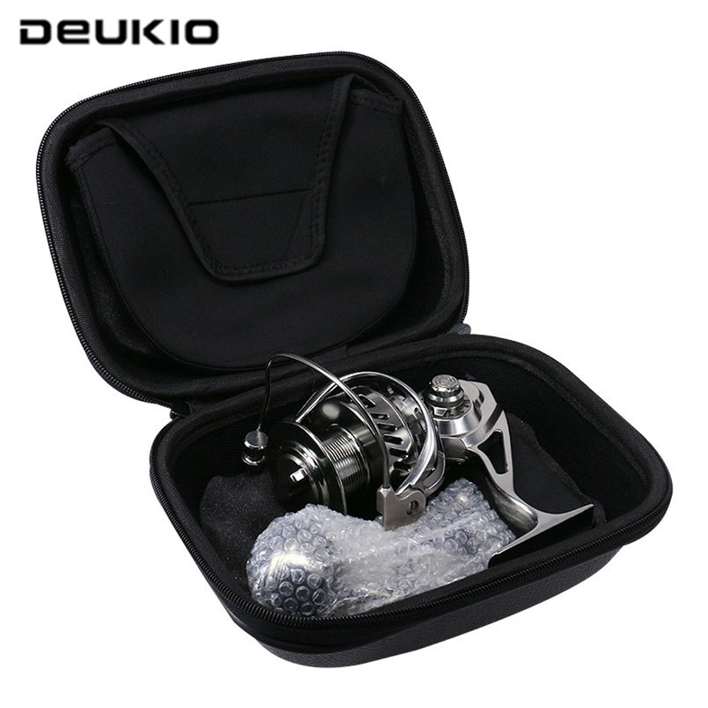 DEUKIO All Metal Fishing Spinning Reel Metal Spool 5.5:1 12BB Ball Bearings Fishing Reel MC3000-6000 Sea Tackle Spining Wheel enlarge