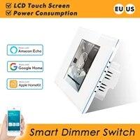 Variateur LED Wifi intelligent  220 110V  consommation denergie  fonctionne avec Apple Homekit  Alexa  Google Home Assistant LCD Touch