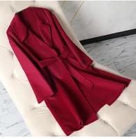 women wool outerwear 2019 winter women outerwear new autumn woolen outerwear double breasted korean slim coat wool new