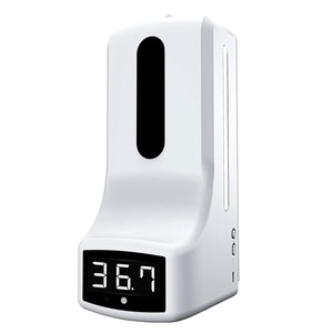 2 in 1 Infrared Thermometer K9 Automatic Soap Dispenser Palm Temperature Measurement and Disinfection Integrated Machine