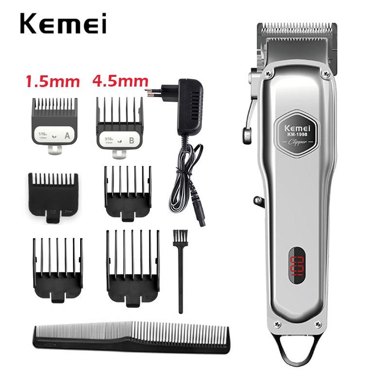 Kemei barber hair clipper professional hair trimmer for men electric beard cutter hair cutting machine hair cut cordless corded недорого