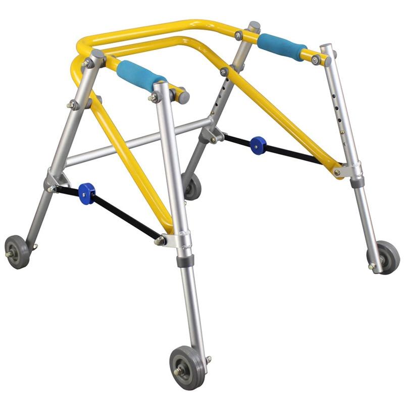 معدات إعادة تأهيل الأطفال معدات تدريب اتجاهي بأربعة عجلات ووكر بمساعدة الإطار الدائم