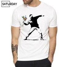 Футболка мужская, с коротким рукавом, с О-образным вырезом, летняя, Повседневная
