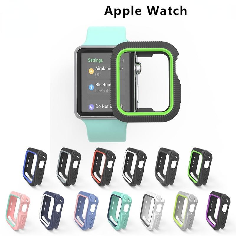 Чехол для Apple watch 456, чехол 44 мм 40 мм, аксессуары, чехол-бампер из ТПУ с полным покрытием для iWatch series 3 4 5 6, чехол для Apple Watch чехол