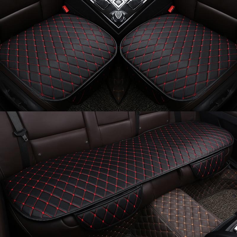 Чехол из искусственной кожи для автомобильного сиденья, универсальный защитный чехол для передних и задних сидений автомобиля, всесезонны...