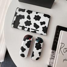 Черный, белый цвет крепкие зернистые/коровье пятнышко/милый дизайн геймпад Разделение кожух переключателя мягкий Защитный чехол Для Nintendo крышка выключателя