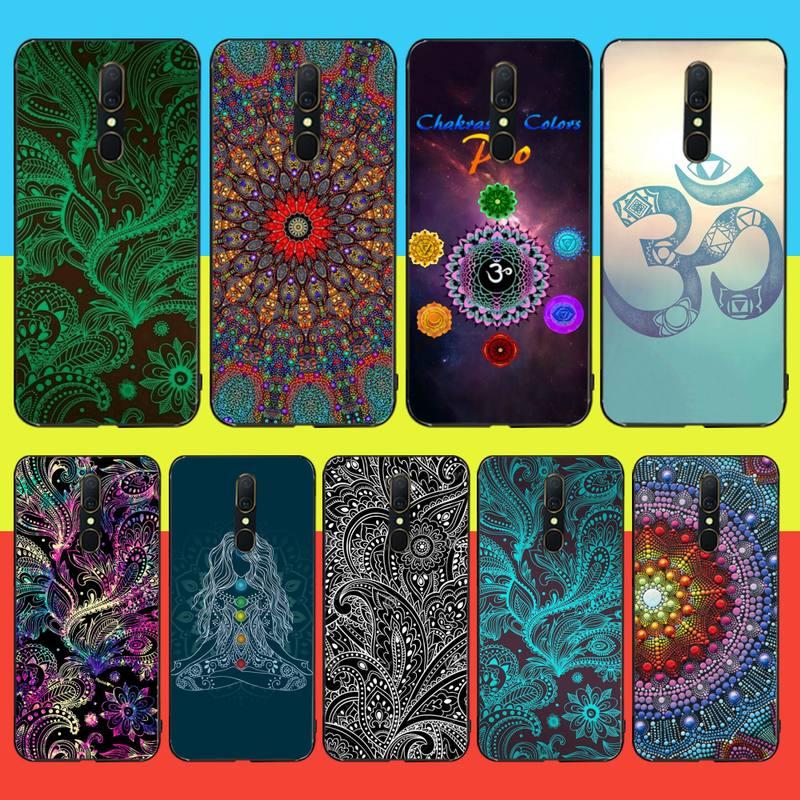 Funda de teléfono HPCHCJHM Mandala Chakra Yoga TPU de silicona suave para Oppo A5 A9 2020 Reno Z Realme5Pro R11