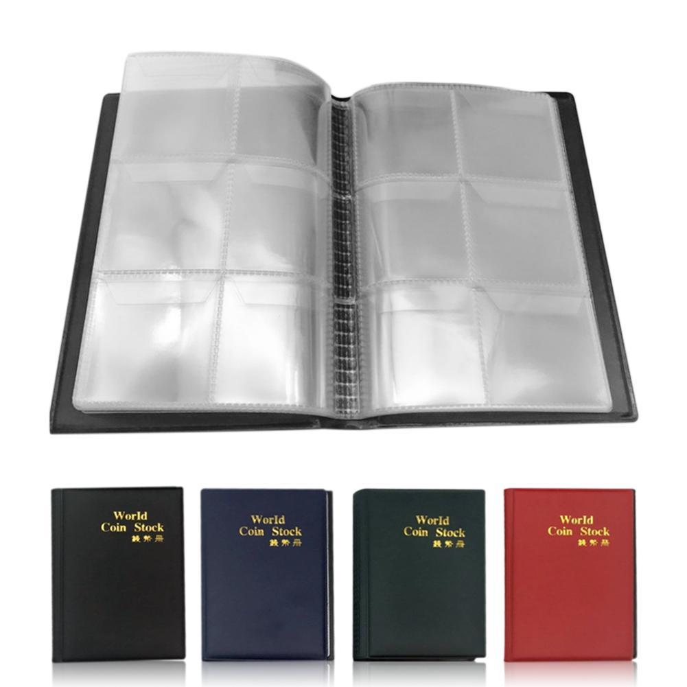 10 páginas 60 bolsillos titular de la moneda álbum portátil álbum moneda Penny dinero almacenamiento libro caja carpeta titular colección