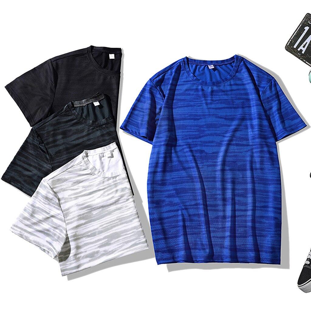 Camiseta de verano Casual para hombre, Camiseta deportiva, transpirable de secado rápido, para hombre, camiseta de excelente calidad, ropa para hombre