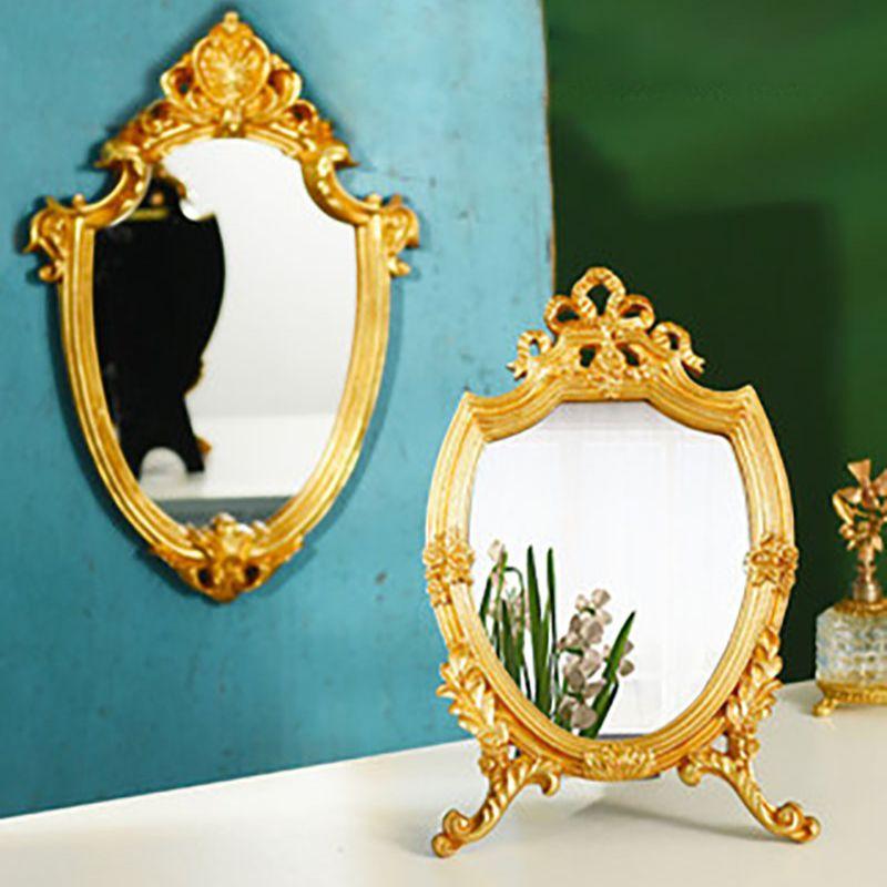 Espejo decorativo para salón, Decoración De Casa, Mural Vintage en relieve
