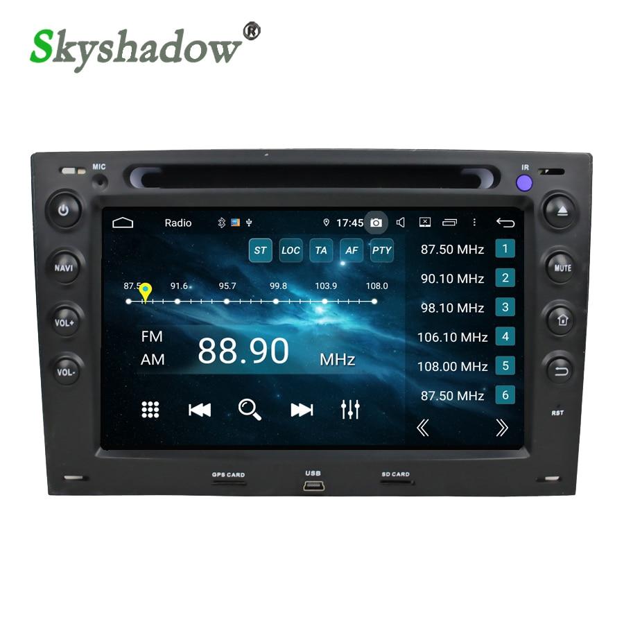 DSP Android 9,0 Octa Core 4G + 32GB reproductor de DVD para Radio coche, GPS, mapa RDS wifi Bluetooth 5,0 para Renault Megane 2 ii 2003-2010