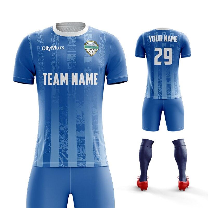 Venta al por mayor diseño personalizado fútbol de tejido Dry-Fit Uniforme establece hombres fútbol Jersey personalizado de fútbol de sublimación de ropa Kit