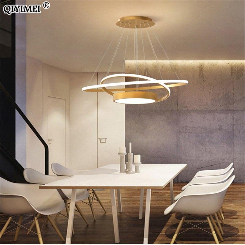 Luces colgantes modernas Led para comedor, sala de estar, cocina, AC85-265V de...
