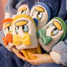 2021 New Cotton Slippers Female Cute Cartoon Duck Home Indoor Non-slip Slippers Winter Couple Plush