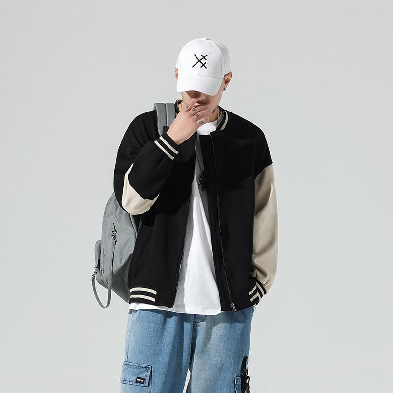 Куртка-бомбер мужская бейсбольная, брендовая Модная Повседневная Свободная куртка-бомбер в стиле унисекс, Японская уличная одежда в стиле ...