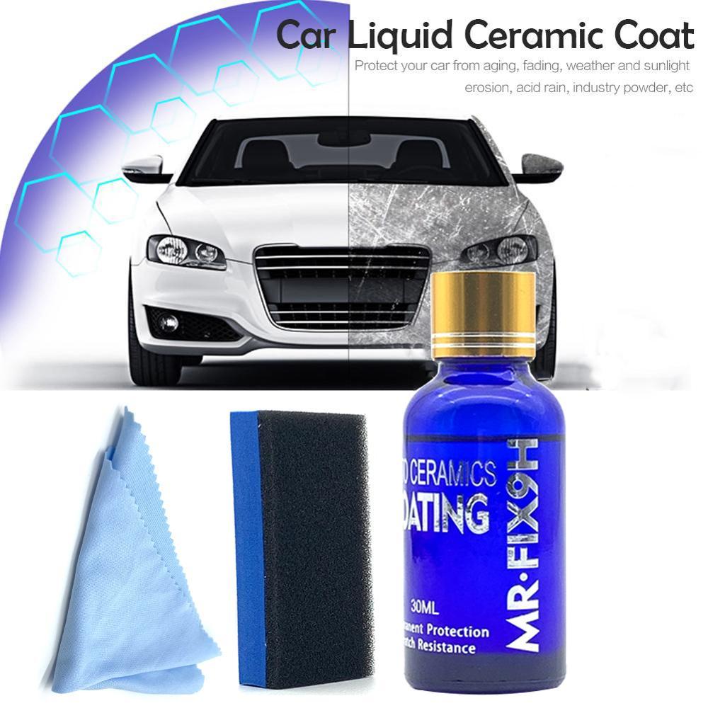 Kit en céramique à haute brillance de revêtement de voiture, dureté extérieure 30ML du mastic 9H de peinture de soin de polonais de voiture danti-éraflure