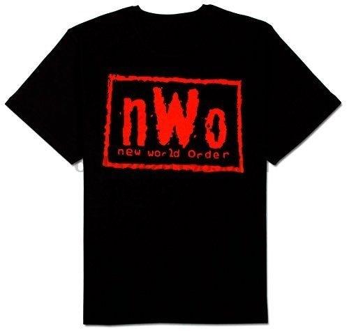 NWO, nuevo pedido mundial, camiseta negra con tinta roja para adultos, camiseta Hip Hop para hombres, camiseta Unisex rock, camisetas de moda, camisetas frescas para verano, divertidas