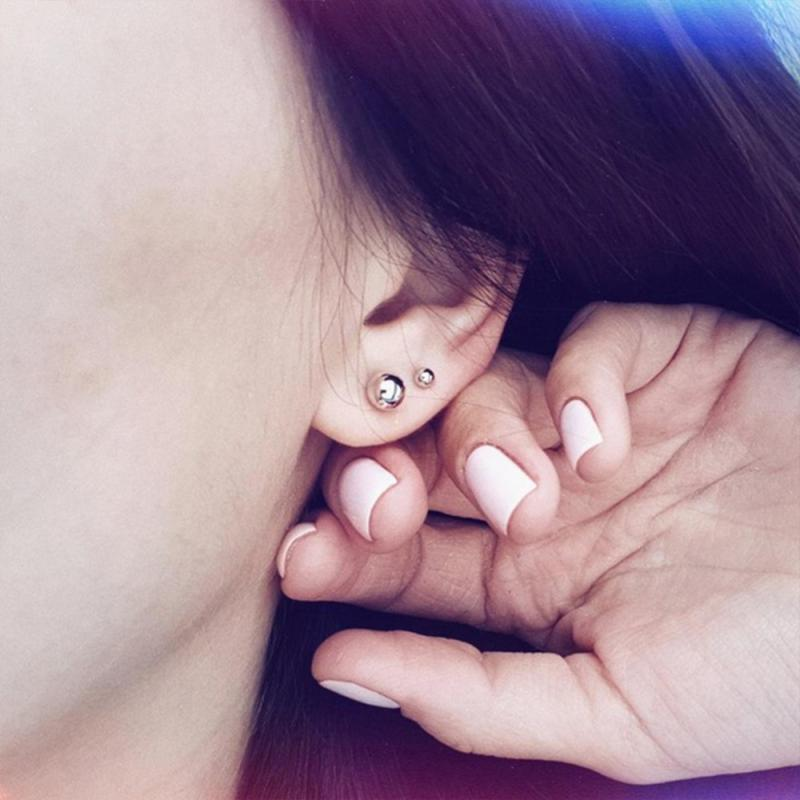 Visunion 316L Stainless Steel Earrings Smooth Round Ball Stud Earrings Diameter 3mm 6mm Ball Ear Stud Piercing Cartilage Jewelry