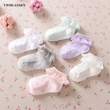 YWHUANSEN 0 to 6 Yrs Toddler Baby Child Girls Ruffle Lace Ankle Cotton Dress Socks Princess Summer C