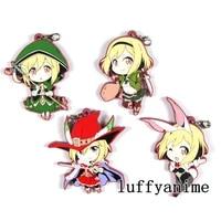 granblue fantasy rubber mascot pendant djeeta jiita cos knight rabbit ears mage anime accessories phone strap chain keychain
