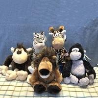 25cm plush animal toy raccoon elephant giraffe fox lion tiger monkey dog for childrens soft toys cute stuffed animals plush toy
