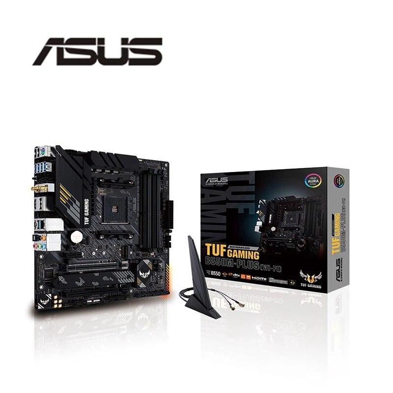 آسوس TUF الألعاب B550M زائد (واي فاي) مايكرو ATX M.2 SATA USB 3.2 دعم AM4 Ryzen سطح المكتب وحدة المعالجة المركزية