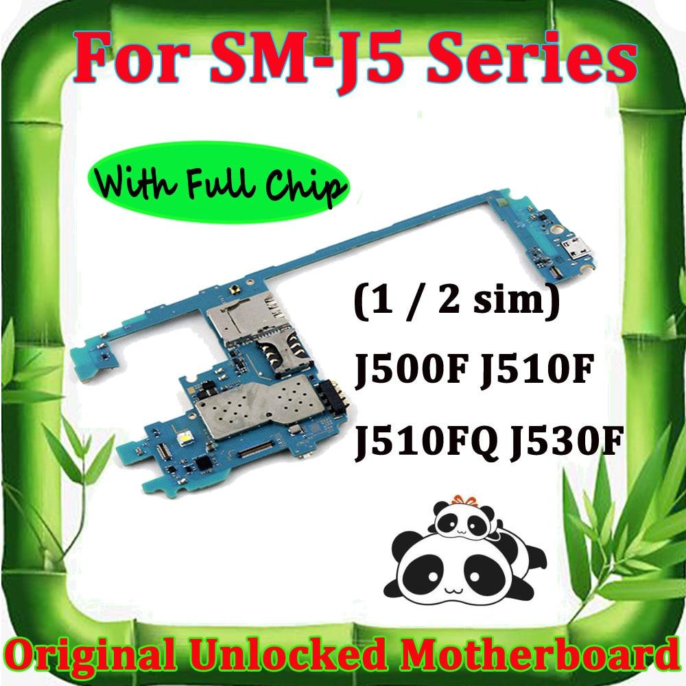 Placa base Original para Samsung Galaxy J5 J500F J510F J530F, placa base desbloqueada con Chips completos, sistema Android desbloqueo, placa lógica