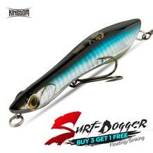 Royaume Surf-Dogger leurres de pêche 95mm 110mm flottant et coulant appâts durs longue coulée bonne Action crayon leurre popper wobblers