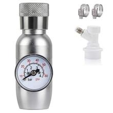 Vaatje Charger Dispenser, Mini 0-60 Psi CO2 Regulator Keg Kit, Draagbare Biervat Regulator