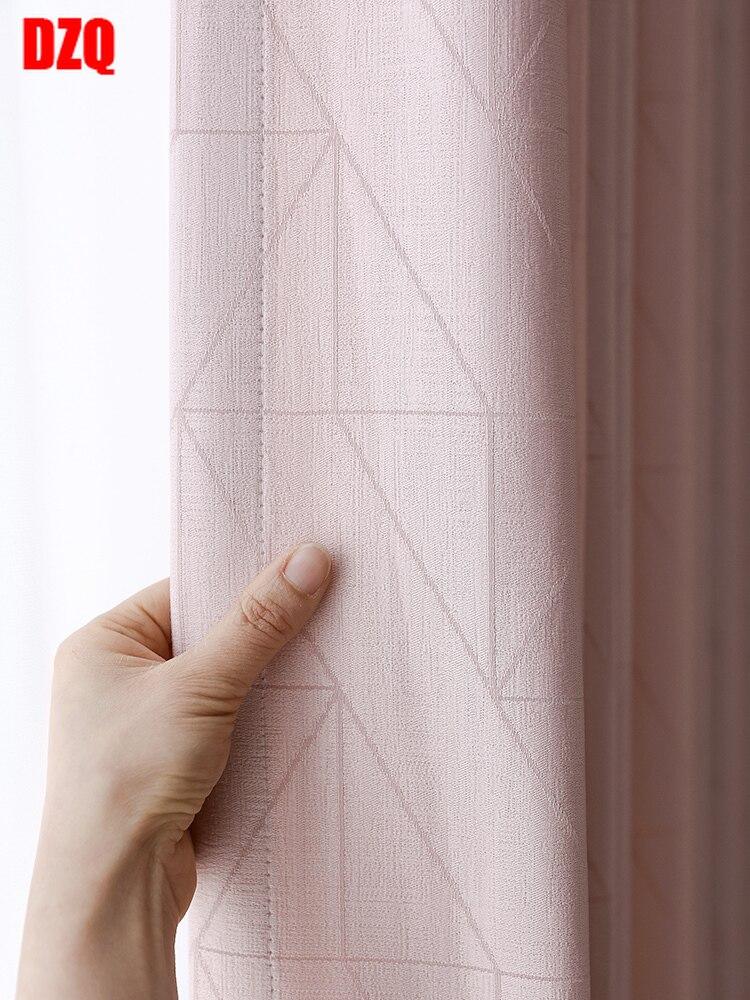 2021 جديد الشمال ضوء الفاخرة فتاة التظليل محاكاة الحرير عالية الدقة الستائر لغرفة المعيشة غرفة نوم التظليل الستائر