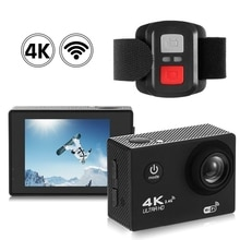 4K Wifi Action caméra 1080P Hd 16Mp casque Cam étanche Dv télécommande sport vidéo Dvr noir