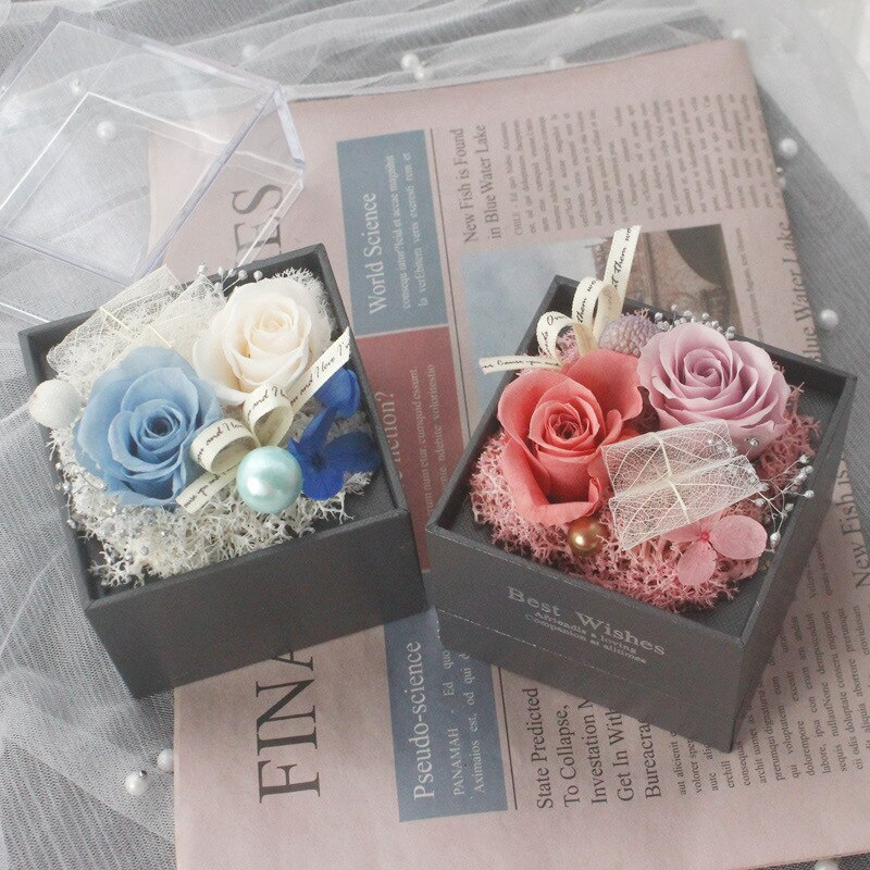 Wrapping Gift Case Gift Box Foldable Flower Box Living Room Wedding Portable Beautiful jewelry box With the bag