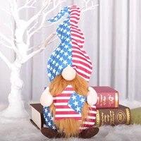 Poupee Gnome en peluche  ornement du jour de lindependance  fait a la main  sans visage  accessoires de decoration pour la maison  40