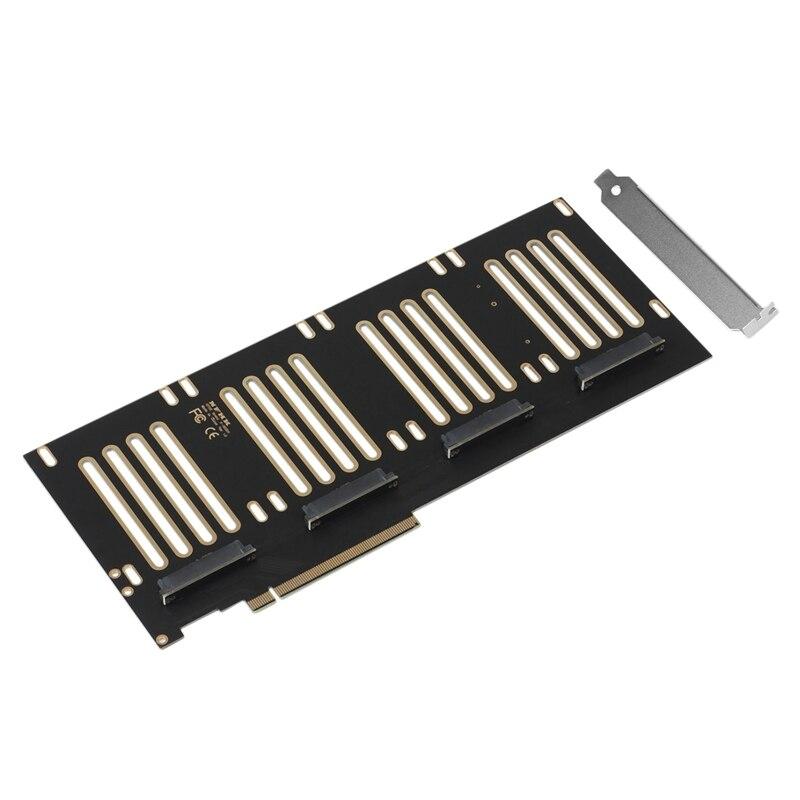 محول PCIE 3.0 X16 إلى الولايات المتحدة 2 SFF8639 المضيف ل PCIe SFF-8639 SSD بطاقة الناهض SATA-Express مزدوج خليج نقل الخادم