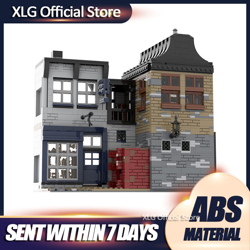 MOC LeakyING-Cauldron WiseacreING-Wizarding DiagonING-Alley Diy Building Blocks Bricks Collection Movie Series Toys Gifts Kids new diagoned alley fit 75978 building blocks kits bricks classic movie series model kids diy toys for children christmas gifts
