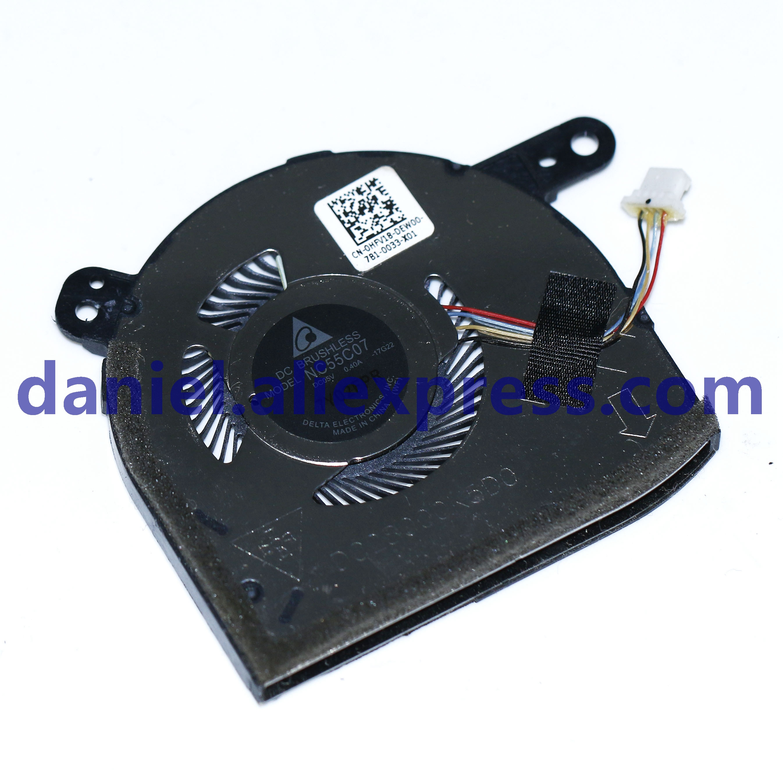 Delta NC55C07-17G22 5 v 0.40a super notebook cpu ventilador de refrigeração