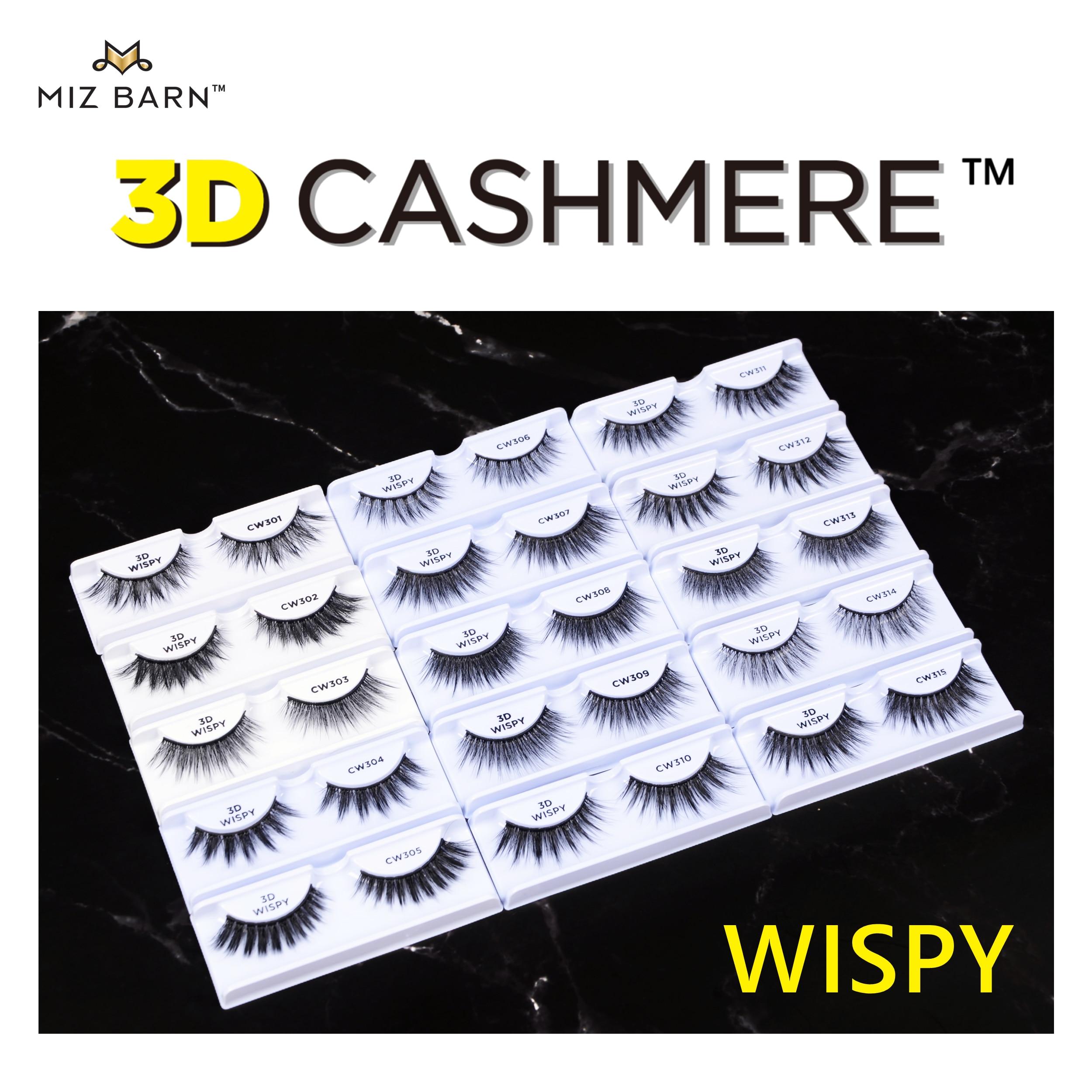 Миз амбар 3D Кашемир-искусство Wispies пушистые глаза ресницы мягкие искусственные 10-20 мм Искусственные ресницы