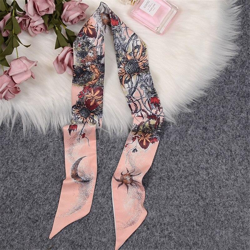 Bufanda de árbol de la vida para mujer, bolso de marca de lujo, bufandas delgadas 2020, nueva bufanda seda diseño para Fular de mujer, pañoleta, toalla de muñeca