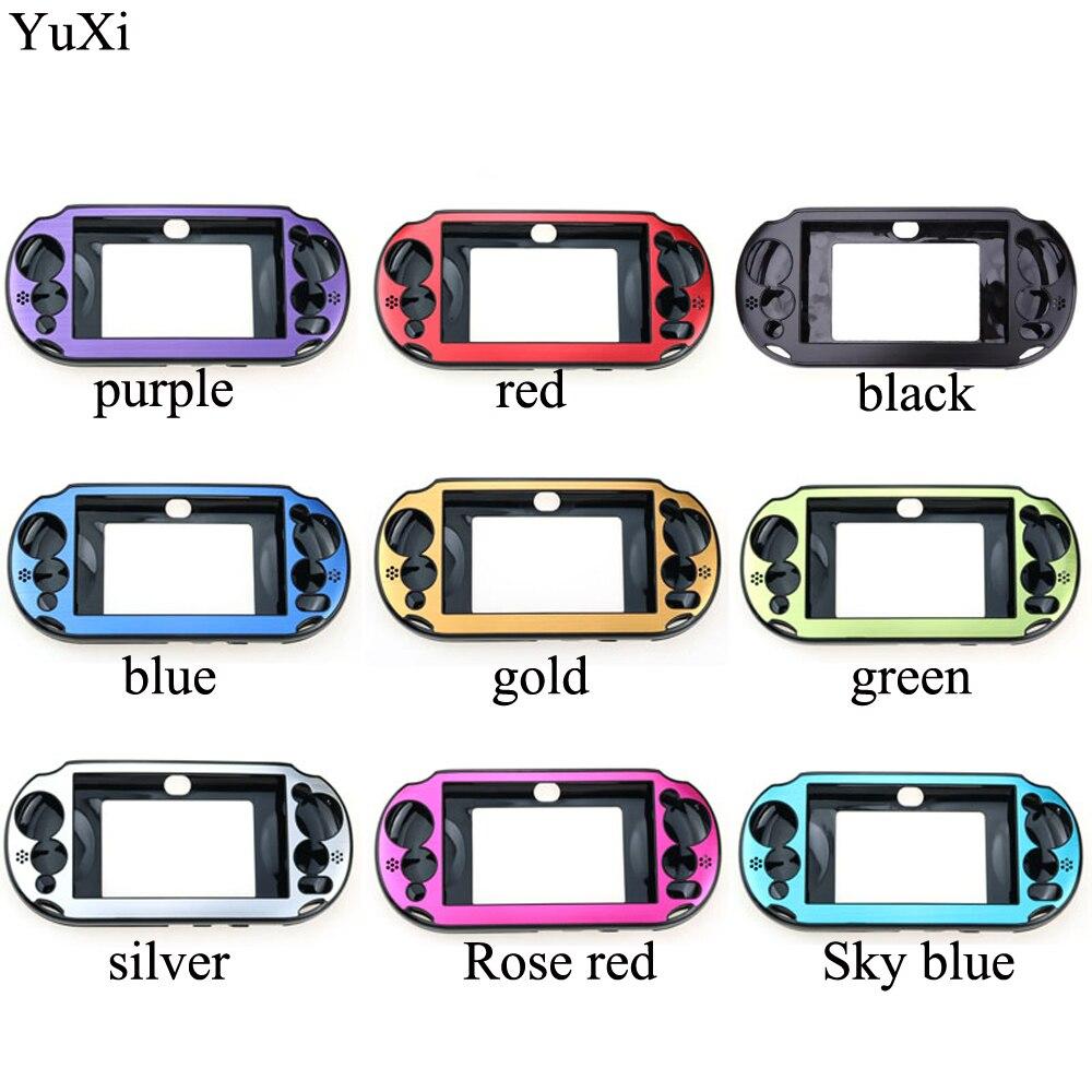 Yuxi 9 cores de alumínio da pele caso capa escudo para sony playstation ps vita 2000 psv PCH-20 controlador