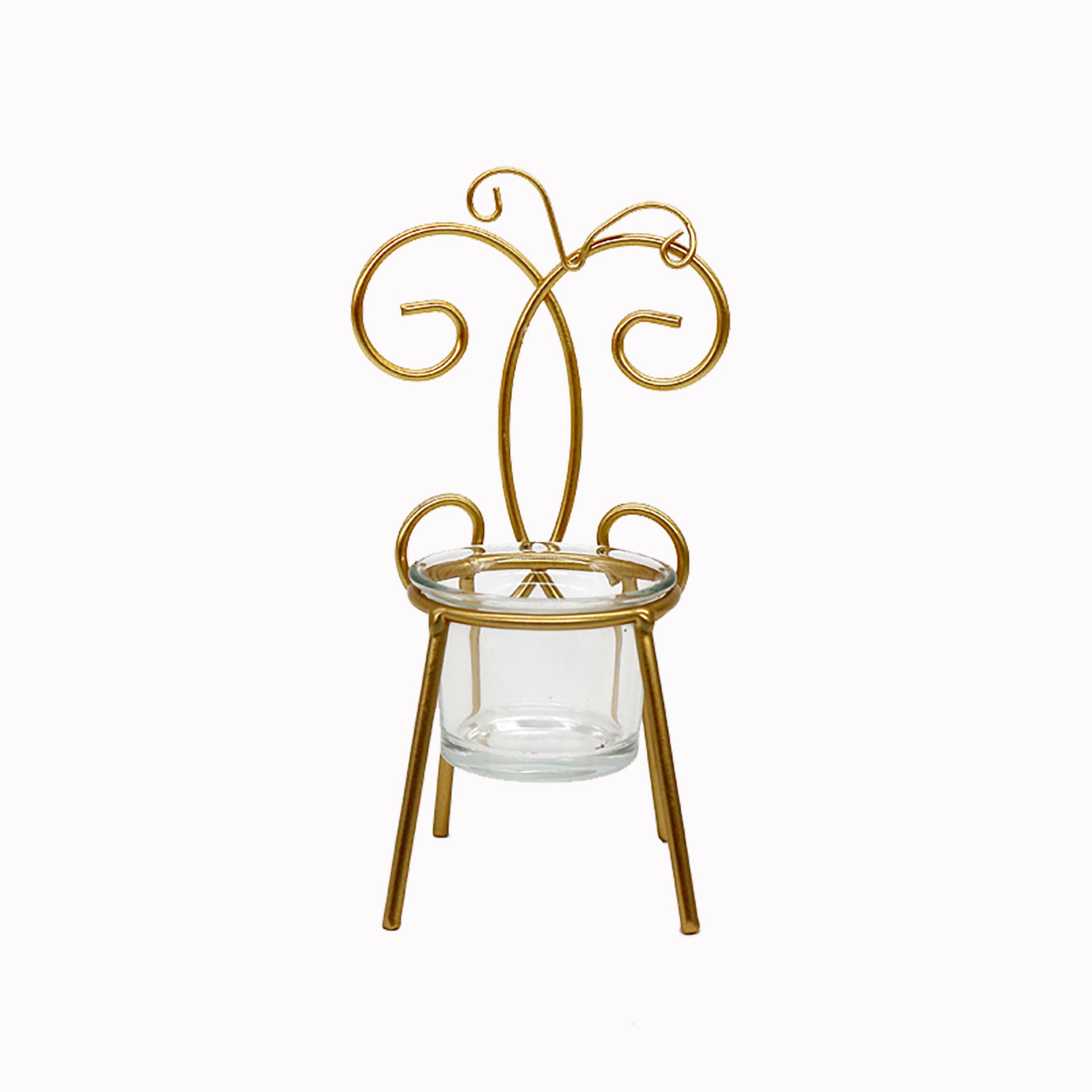 Araña-silla de hierro forjado con forma de mariposa, portavelas, decoración artesanal para...
