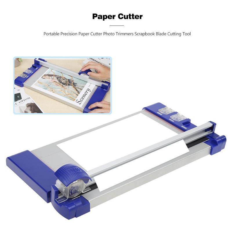 Cortador de papel de precisión portátil cortador de fotos álbum de recortes herramienta de corte de papel máquina de corte de fotos para oficina en casa