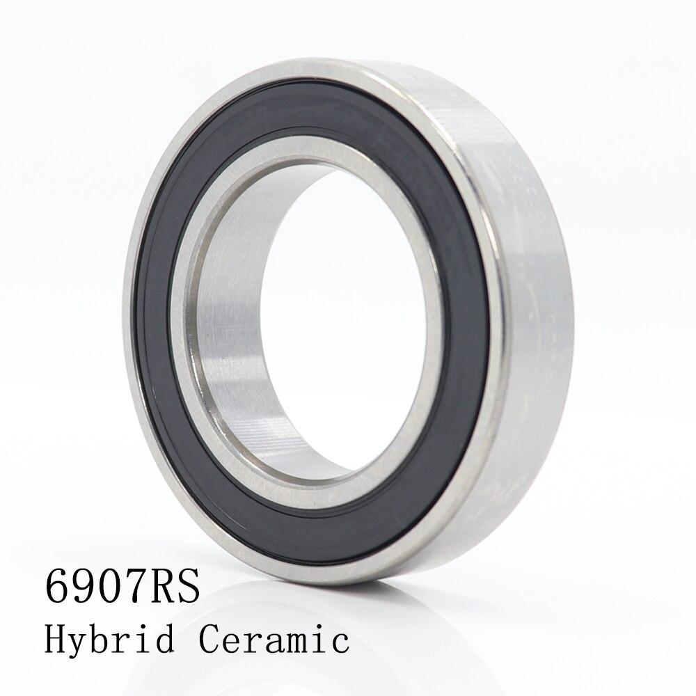 6907 Hybrid Ceramic Bearing 35x55x10 mm ABEC-1 ( 1 PC ) Bicycle Bottom Brackets & Spares 6907RS Si3N4 Ball Bearings