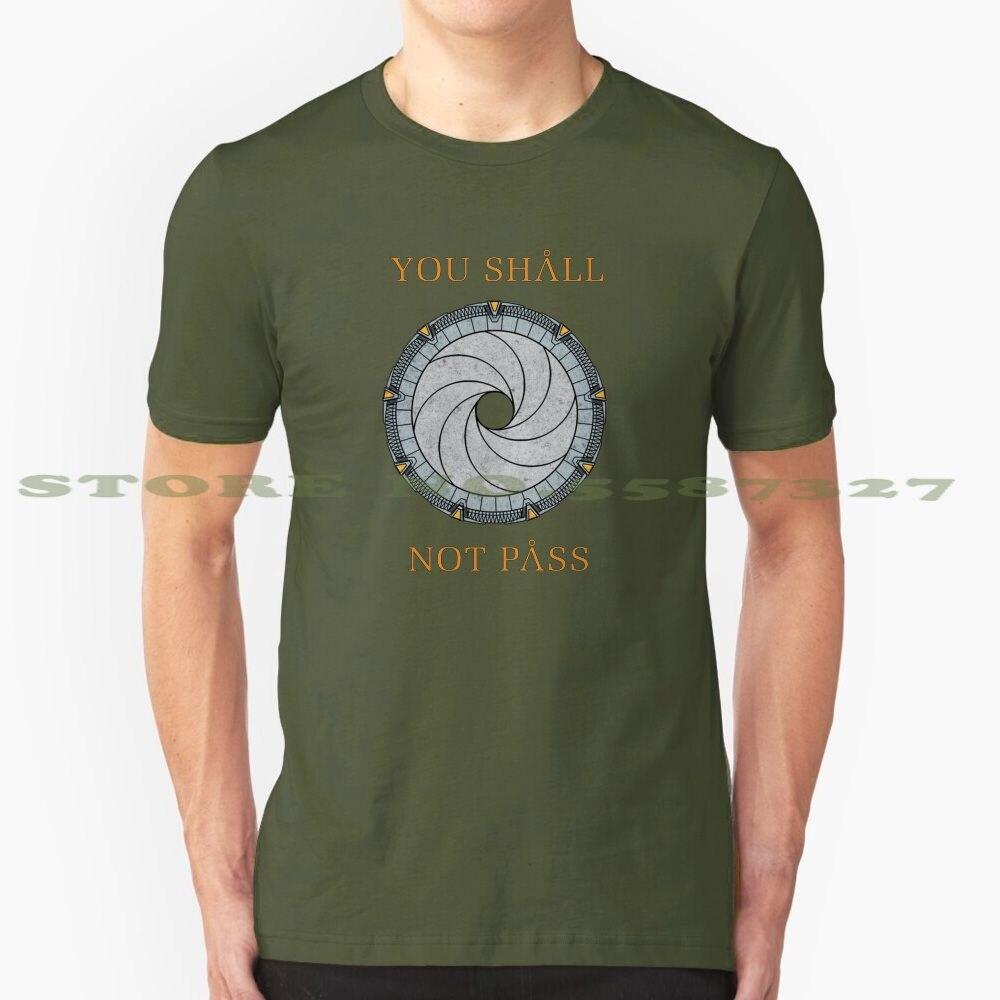 Camiseta divertida de verano para hombres y mujeres, ciencia ficción Sg1, universo, Atlantis, Anubis, Asgard, Baal, Tealc, no deben pasar