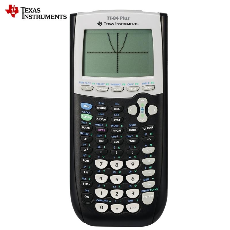 جديد تكساس إنسترومنتس Ti-84 زائد الرسوم البيانية حاسبة أعلى الأزياء البلاستيك البطارية Calculatrice Led حاسبة
