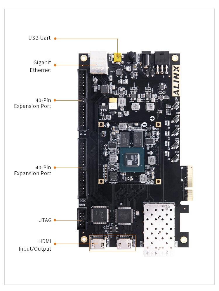 ALINX AX7A035: XILINX Artix-7 XC7A35T FPGA Development Board A7 SoMs XC7A 35T SFP PCIe enlarge