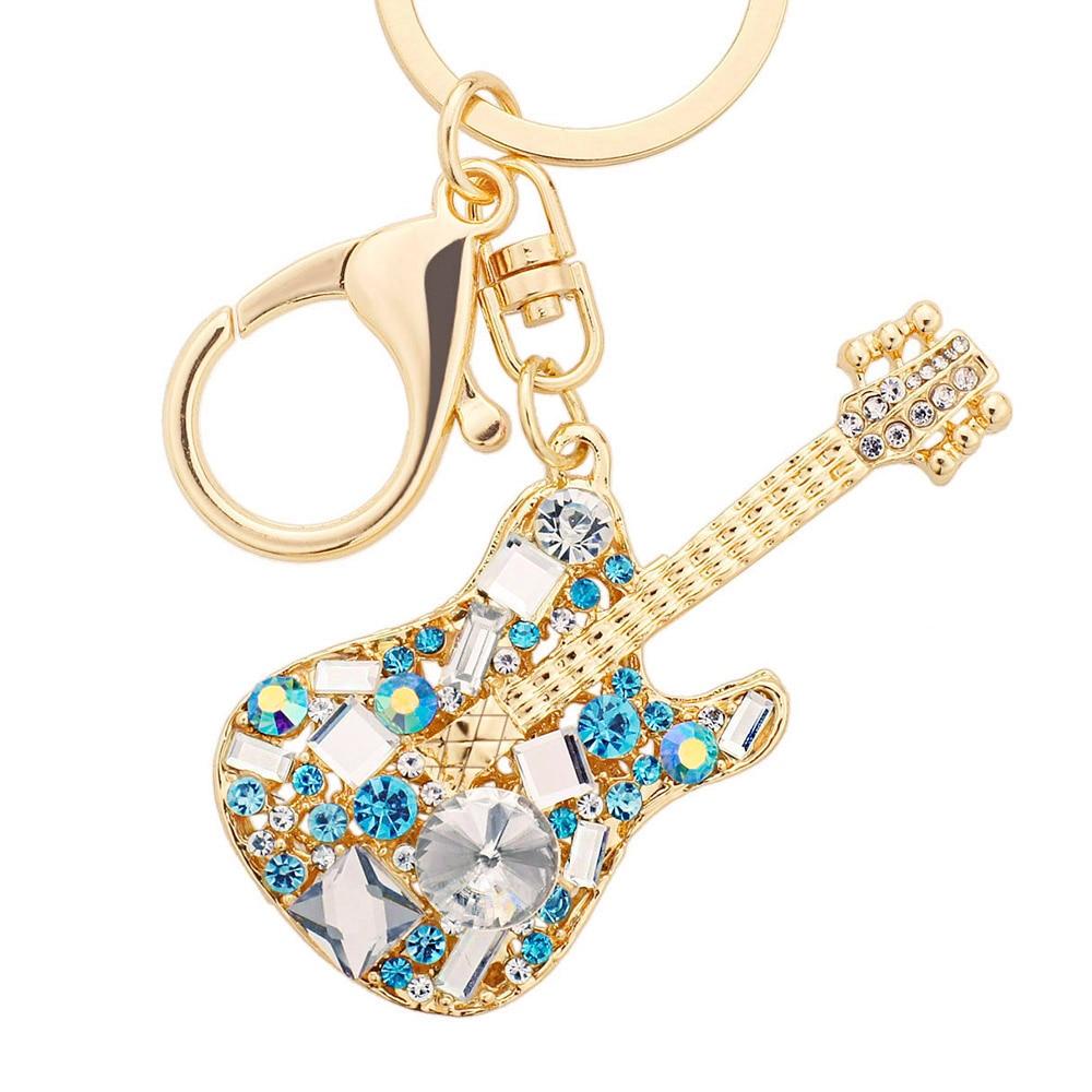 ¡Oferta! elegante bolso exquisito con diamantes de imitación de cristal de guitarra para mujer DK255