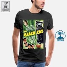De Zwarte Kat Movie Poster Man Fishinger Shirts Harajuku T-shirts Horror T-shirt Meme T-shirt Kortingen Koop Qoibgm